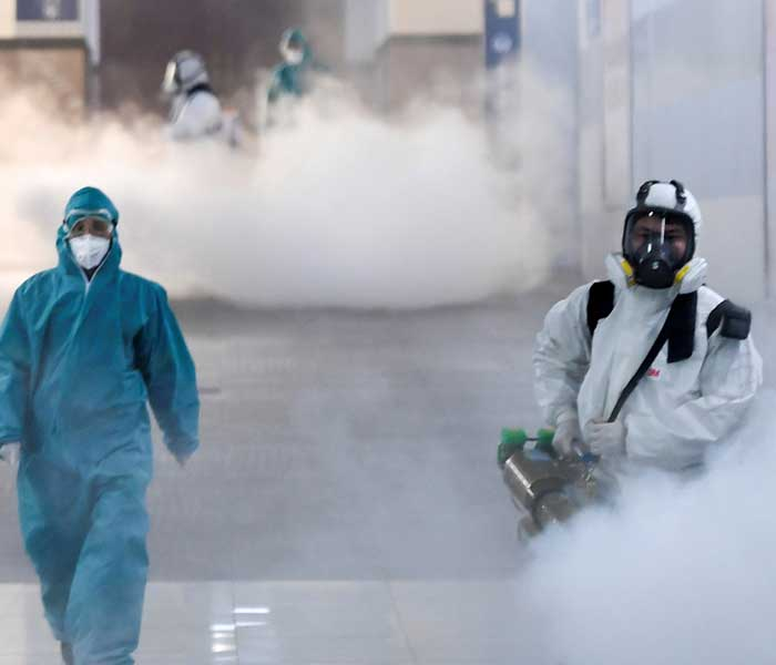 anti-microbial fogging